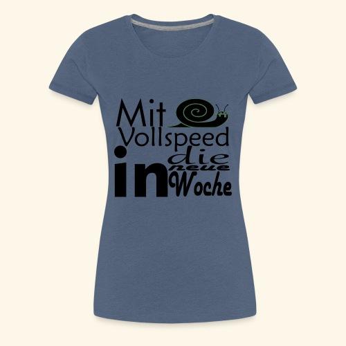 Schnecke - Frauen Premium T-Shirt
