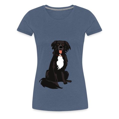 border collie illustratie - Vrouwen Premium T-shirt