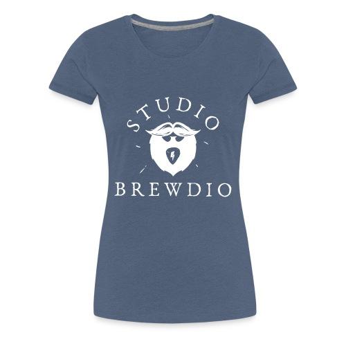 Studio Brewdio Logo White - Women's Premium T-Shirt
