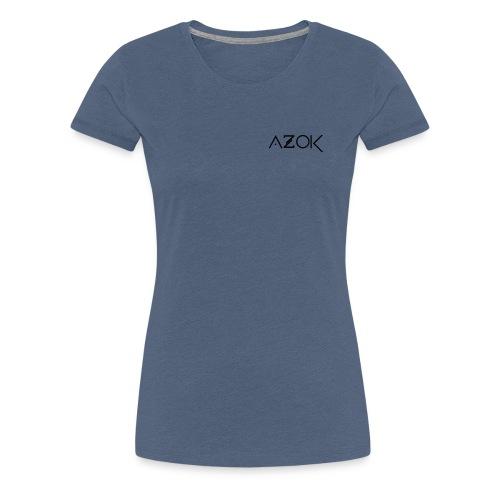Azok-Esport logo svart - Women's Premium T-Shirt