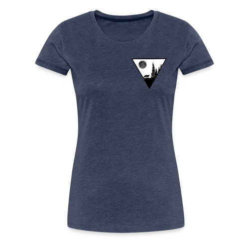 Pleine lune avec renard - T-shirt Premium Femme