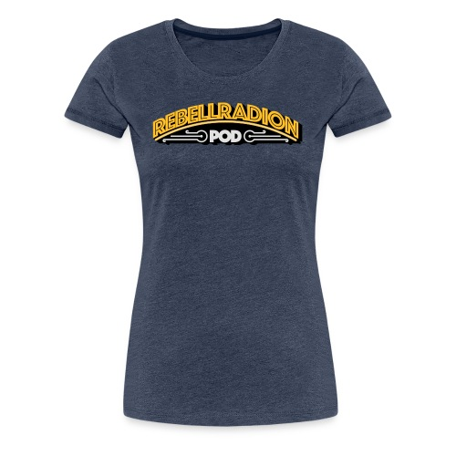 rebellradion logo 2017 - Premium-T-shirt dam