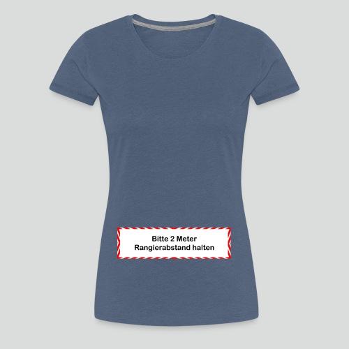 Babybauch - Rangierabstand - Frauen Premium T-Shirt