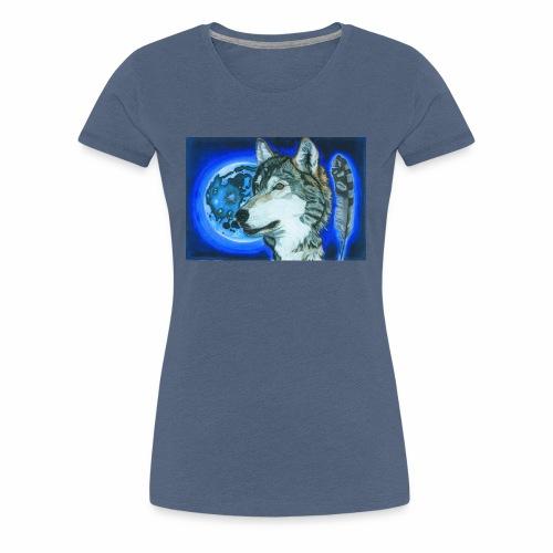Wolf 1 - Frauen Premium T-Shirt