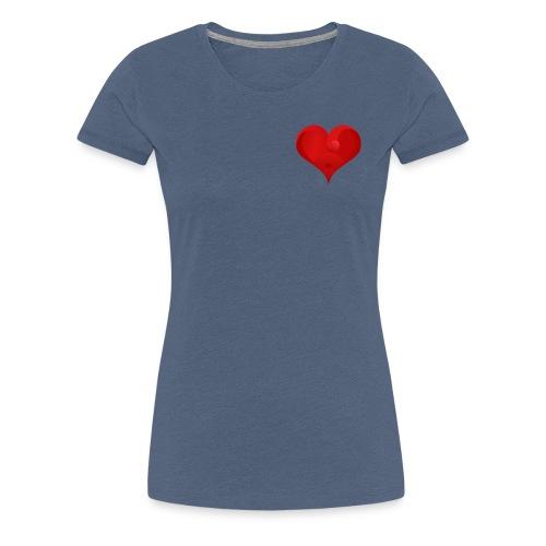 Herz Logo - Frauen Premium T-Shirt