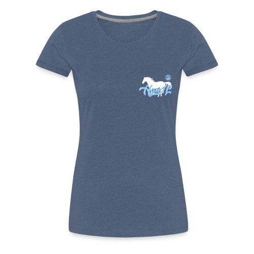 H&l denim Simple Horse - T-shirt Premium Femme