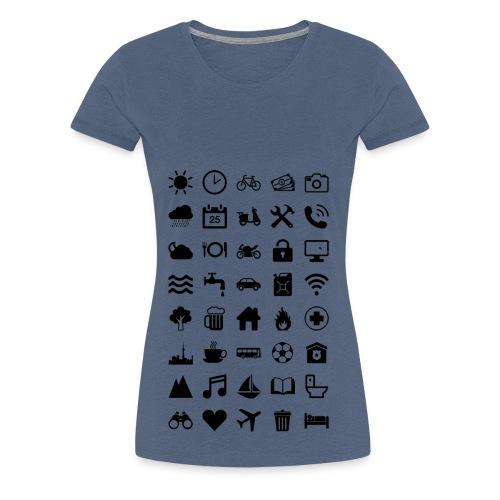 Travel Icons - Frauen Premium T-Shirt