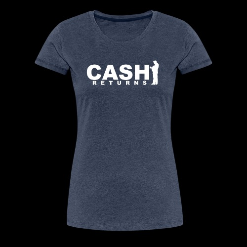 CASH RETURNS LOGO (White) - Women's Premium T-Shirt
