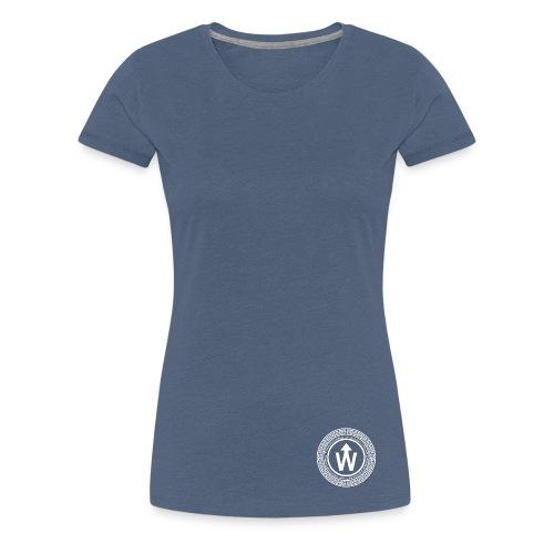 wit logo transparante achtergrond - Vrouwen Premium T-shirt