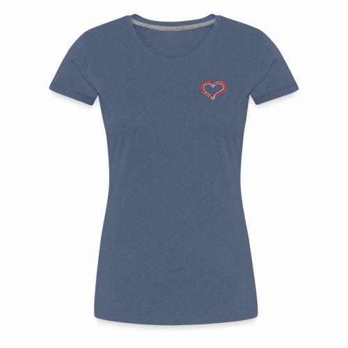 Herz Outffit - Frauen Premium T-Shirt