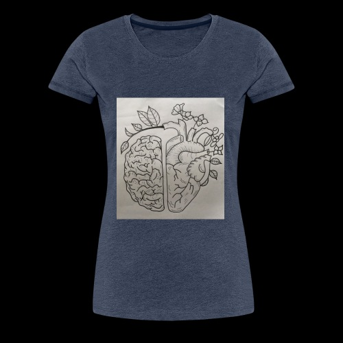 Brain VS Heart - Frauen Premium T-Shirt