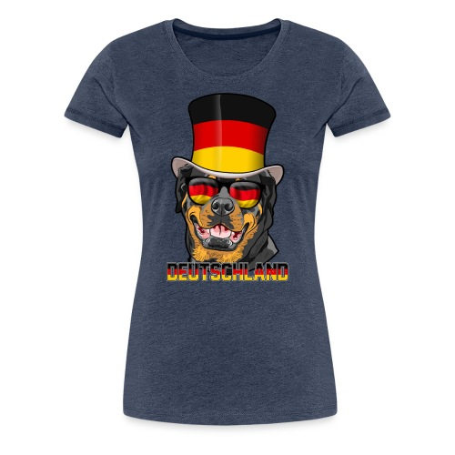 Cooler Deutschland Rottweiler mit Hut und Brille - Frauen Premium T-Shirt