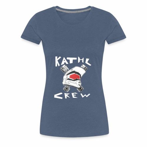 Kathl Crew Logo mit Schriftzug - Frauen Premium T-Shirt