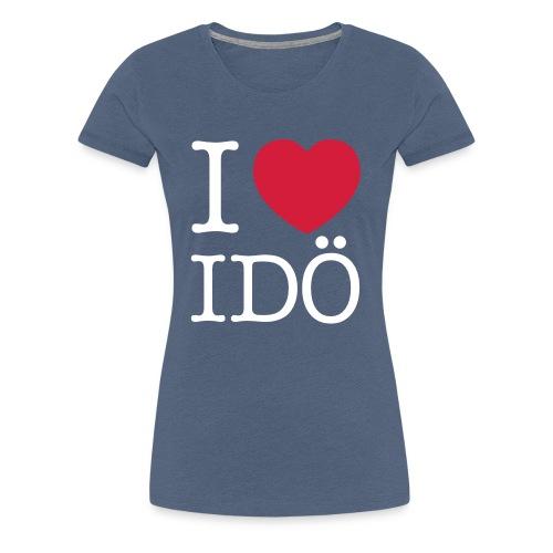 Idö vit text - Premium-T-shirt dam