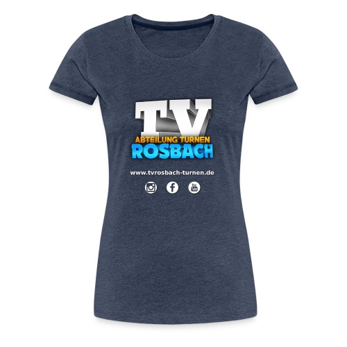 TVROSBACH LOGO Hinten - Frauen Premium T-Shirt
