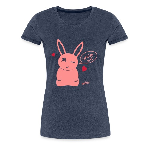 Bunny heart pink - Women's Premium T-Shirt
