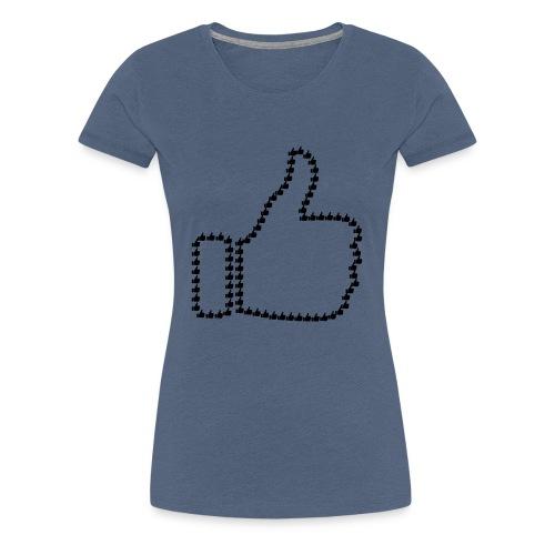 Zustimmung aus Daumen - Frauen Premium T-Shirt