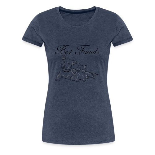 Katzen und Hunde freunde - Frauen Premium T-Shirt