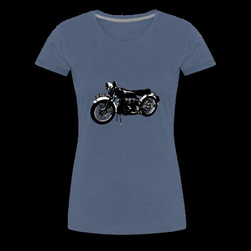 Classic motor bike Black Shadow - Women's Premium T-Shirt