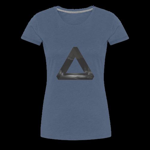 Glitch Dreieck - Frauen Premium T-Shirt