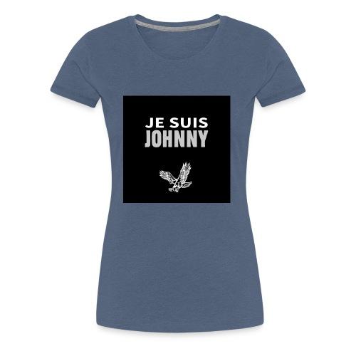 Je suis Johnny aigle fond noir - T-shirt Premium Femme