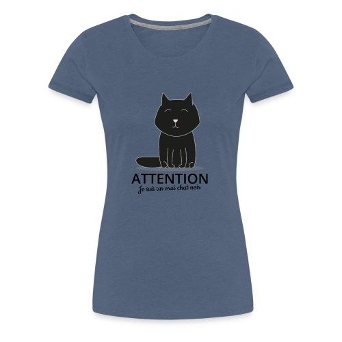 Chat noir - T-shirt Premium Femme