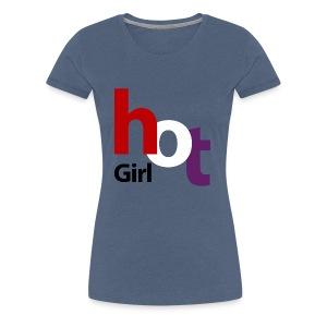 hot girl rood wit blauw zwart - Vrouwen Premium T-shirt