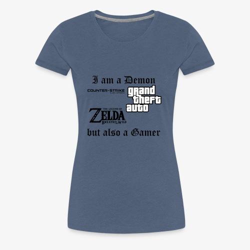 Demon also gamer - Frauen Premium T-Shirt