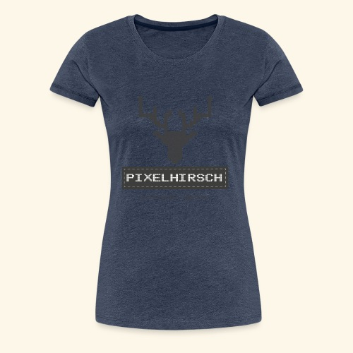 PIXELHIRSCH - grau - Frauen Premium T-Shirt