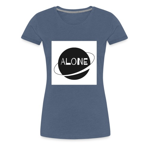 Alone planet white background - Women's Premium T-Shirt