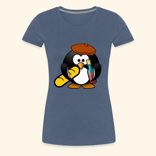 Französisch Baguette Pinguin Stereotyp - Frauen Premium T-Shirt