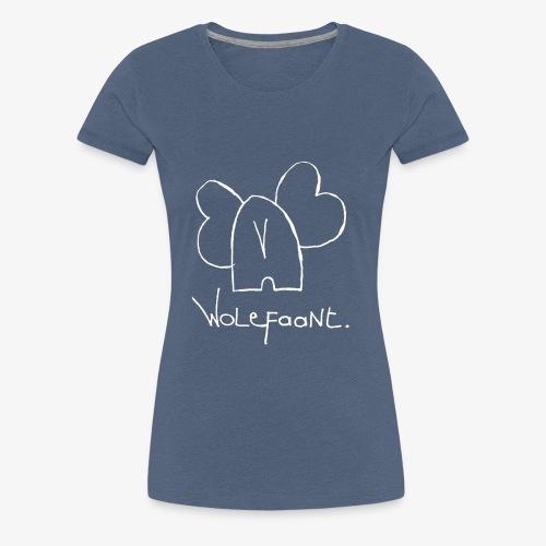 Witte Wolefaant. - Vrouwen Premium T-shirt