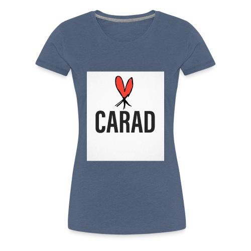 Logo und CARAD - Frauen Premium T-Shirt
