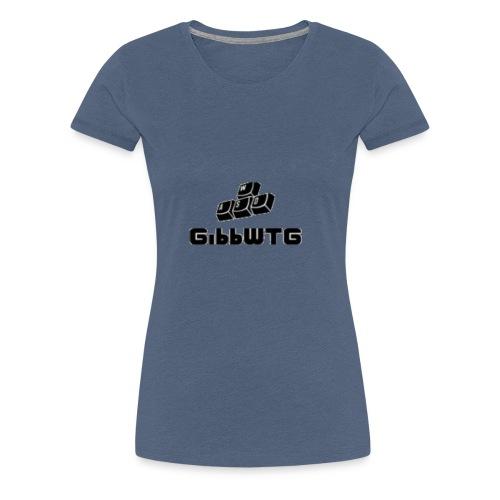 stor svart - Premium-T-shirt dam