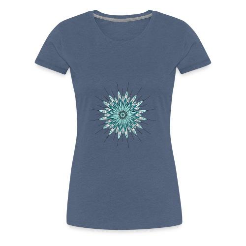piume azzurre - Maglietta Premium da donna