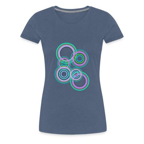 cerchi astratti multicolore - Maglietta Premium da donna