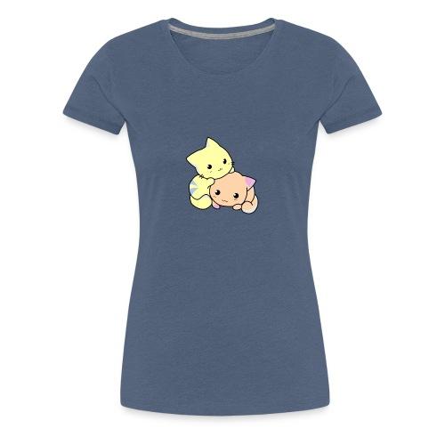 +++ 2 zuckersüße Katzen - Frauen Premium T-Shirt