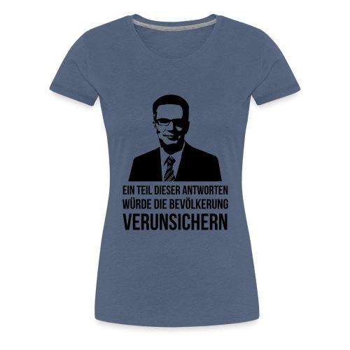 Verunsicherung - Frauen Premium T-Shirt