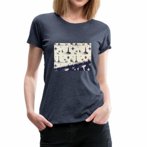 maritim leuchtturm - Frauen Premium T-Shirt