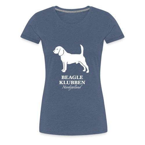 Hvidt logo - Dame premium T-shirt