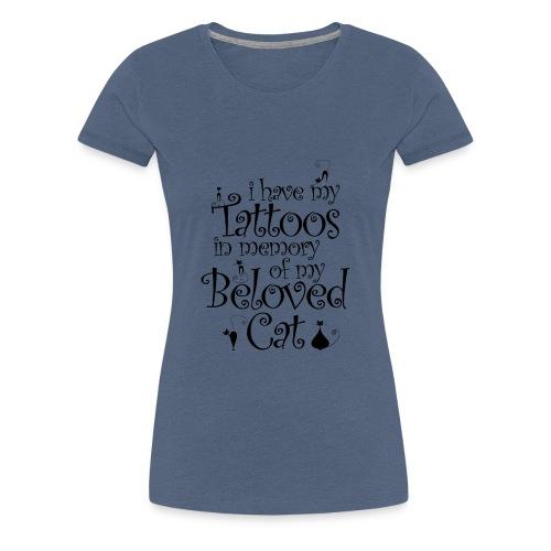 Katze Tattoo Tätowierungen Katzen Katzenmama - Frauen Premium T-Shirt