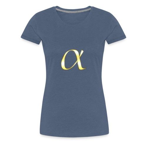 Alpha in Gold - Frauen Premium T-Shirt