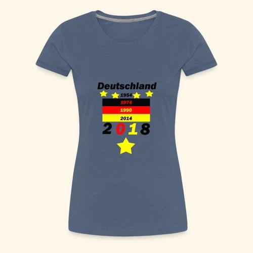 Deutschland 5 Sterne - Frauen Premium T-Shirt