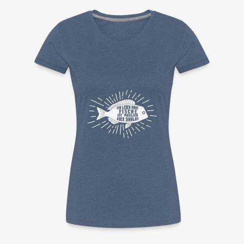 Schönes Aquariums Teich und Angler Shirt Geschenk - Frauen Premium T-Shirt