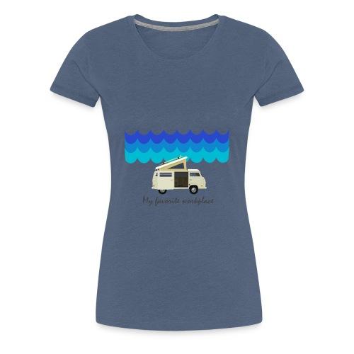 My favorite workplace - Frauen Premium T-Shirt