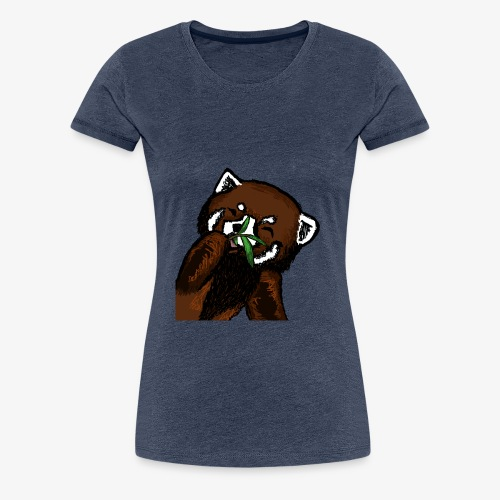 Cute red panda with Bamboo Wildlife T-Shirt - Women's Premium T-Shirt