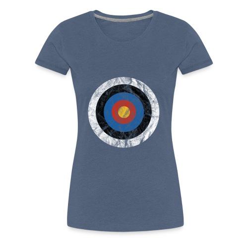 T-Shirt Bullseye Ziel Pfeil Bogen Archery Dart - Frauen Premium T-Shirt