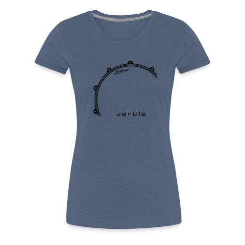 Cercle Design Noir - T-shirt Premium Femme