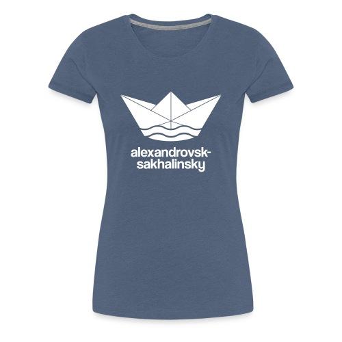 Alexandrovsk-Sakhalinsky Papierschiff Russland - Frauen Premium T-Shirt