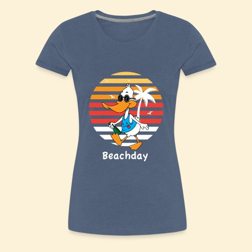 Beach Duck - Frauen Premium T-Shirt